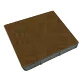 ศิลาเหลี่ยม 50x50x6 ซม. สีน้ำตาล 33.30 กก./ก้อน 4 ก้อน/ตรม.