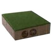 ศิลาเหลี่ยม คูลพลัส สีเขียว Soft Green  20x20x6ซม. 4.6 กก./ก้อน 25 ก้อน/ตรม.
