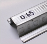 แปเหล็กชุบสังกะสี G ROOF หนา 0.65มม. ยาว 4ม. นน. 2กก./ท่อน