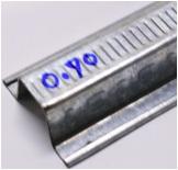 แปเหล็กชุบสังกะสี G ROOF หนา 0.7 มม. ยาว 4ม. นน. 2.26กก./ท่อน