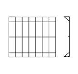 แผงรั้ว Stick สูง 0.9x2.4ม. ขนาดลวด 6มม. เสาสูง 1ม. นน.15.42กก.