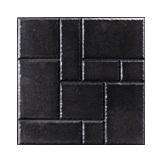 กระเบื้องปูพื้น Earth Pave ลาย Flag 40X40X3.5 Charcoal Black 12 กก./แผ่น 6.25 แผ่น