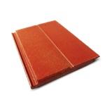 กระเบื้องคอนกรีต อดามัส สีส้มประกายอำพัน(581) 33x42ซม. นน. 5.2กก./ผ.