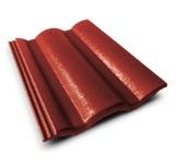 กระเบื้องคอนกรีต สีแดงชบา(CT11) ขนาด 33x42ซม. นน.4กก./ผ.
