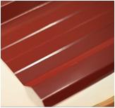 หลังคาเมทัลชีท ตราตรีสตาร์ TRISTAR สีแดงอิฐ หนา 0.27มม. 760มม. ราคาต่อเมตร