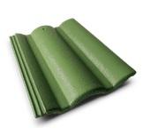กระเบื้องคอนกรีต สีเขียวตองอ่อน (CT65) ขนาด 33x42ซม. นน.4กก./ผ.