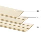 ไม้ผนังบังใบ คอนวูด ลายเสี้ยน รุ่น G0 สีงาช้าง 11x200x3050มม. นน. 9.04กก./ผ.