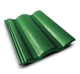กระเบื้องคอนกรีต สีเขียวผ่องใส (CT69) ขนาด 33x42ซม. นน.4กก./ผ.