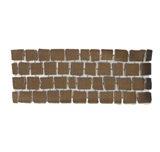 บล๊อกปูถนน คาร์เพทสโตน Carpet Stone สี่เหลี่ยม Dark Brown ผิวเรียบ 38x92x2ซม. 12กก./ผืน 2.8ผืน/ตร.ม.