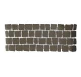 บล๊อกปูถนน คาร์เพทสโตน Carpet Stone สี่เหลี่ยม Black Grey ผิวเรียบ 38x92x2ซม. 12กก./ผืน 2.8ผืน/ตร.ม.