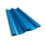 ลอนคู่ ตราเพชร สีฟ้าประกายเพชร 50x120x0.5ซม. นน. 6.2กก./แผ่น