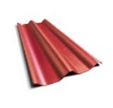 ลอนคู่ ตราเพชร สีแดงประกายเพชร 50x120x0.5ซม. นน. 6.2กก./แผ่น