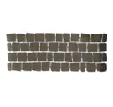 บล๊อกปูถนน คาร์เพทสโตน Carpet Stone สี่เหลี่ยม Black Grey ผิวเรียบ 38x92x3.5ซม. 21กก./ผืน 2.8ผืน/ตร.ม