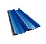 ลอนคู่ ตราเพชร สีฟ้ารุ่งโรจน์ 50x120x0.5ซม. นน. 6.2กก./แผ่น