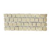 บล๊อกปูถนน คาร์เพทสโตน Carpet Stone สี่เหลี่ยม Ivory ผิวพ่นทราย 38x92x2ซม 12กก./ผืน 2.8ผืน/ตร.ม
