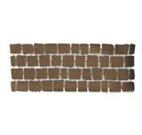 บล๊อกปูถนน คาร์เพทสโตน Carpet Stone สี่เหลี่ยม Dark Brown ผิวพ่นทราย 38x92x3.5ซม 21กก./ผืน 2.8ผืน/ตร.ม