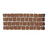 บล๊อกปูถนน คาร์เพทสโตน Carpet Stone สี่เหลี่ยม Dark Red ผิวพ่นทราย 38x92x3.5ซม 21กก./ผืน 2.8ผืน/ตร.ม