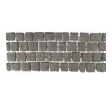 บล๊อกปูถนน คาร์เพทสโตน Carpet Stone สี่เหลี่ยม Black Grey ผิวพ่นทราย 38x92x3.5ซม 21กก./ผืน 2.8ผืน/ตร.ม