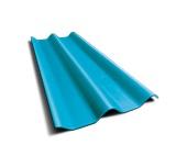 ลอนคู่ ตราเพชร สีฟ้าร่มรื่น 50x120x0.5ซม. นน. 6.2กก./แผ่น