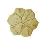 กระเบื้องปูพื้น Stamp pave ลาย Florence สีเหลือง เส้นผ่า ศก.50ซม. หนา 3ซม. 6.25ผ./ตร.ม.
