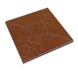 บล็อกปูถนน ศิลาเหลี่ยม ลายดาราวดี สีส้ม  50x50x6 ซม.   33.3กก./ก้อน   4 ก้อน/ตรม.