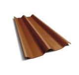 ลอนคู่ ตราเพชร สีส้มมังกรทอง 50x120x0.5ซม. นน. 6.2กก./แผ่น