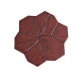 กระเบื้องปูพื้น Stamp pave ลาย Florence สีแดง เส้นผ่า ศก.50ซม. หนา 3ซม. 6.25ผ./ตร.ม.