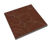บล็อกปูถนน ศิลาเหลี่ยม ลายดาราวดี สีแดง 50x50x6 ซม. 33.3กก./ก้อน 4 ก้อน/ตรม.