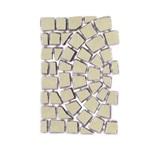 บล๊อกปูถนน คาร์เพทสโตน Carpet Stone Half-Circle ครึ่งวงกลม Ivory ผิวเรียบ 80x52.5x2ซม. 14กก./ผืน 2.38