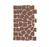 บล๊อกปูถนน คาร์เพทสโตน Carpet Stone Half-Circle ครึ่งวงกลม Dark Red ผิวพ่นทราย 80x52.5x2ซม 14กก./ผืน