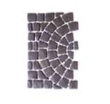 บล๊อกปูถนน Carpet Stone Half-Circle ครึ่งวงกลม Black Grey ผิวพ่นทราย 80x52.5x2ซม 14กก./ผืน