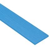 ไม้ฝาเฌอร่า ลายสัก รุ่นมาตรฐาน สีฟ้าดุสิตา (251) ขนาด 0.8x15x300 ซม. นน. 5.4กก./ผ.