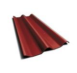 ลอนคู่ ตราเพชร สีแดงมั่งมี 50x120x0.5ซม. นน. 6.2กก./แผ่น